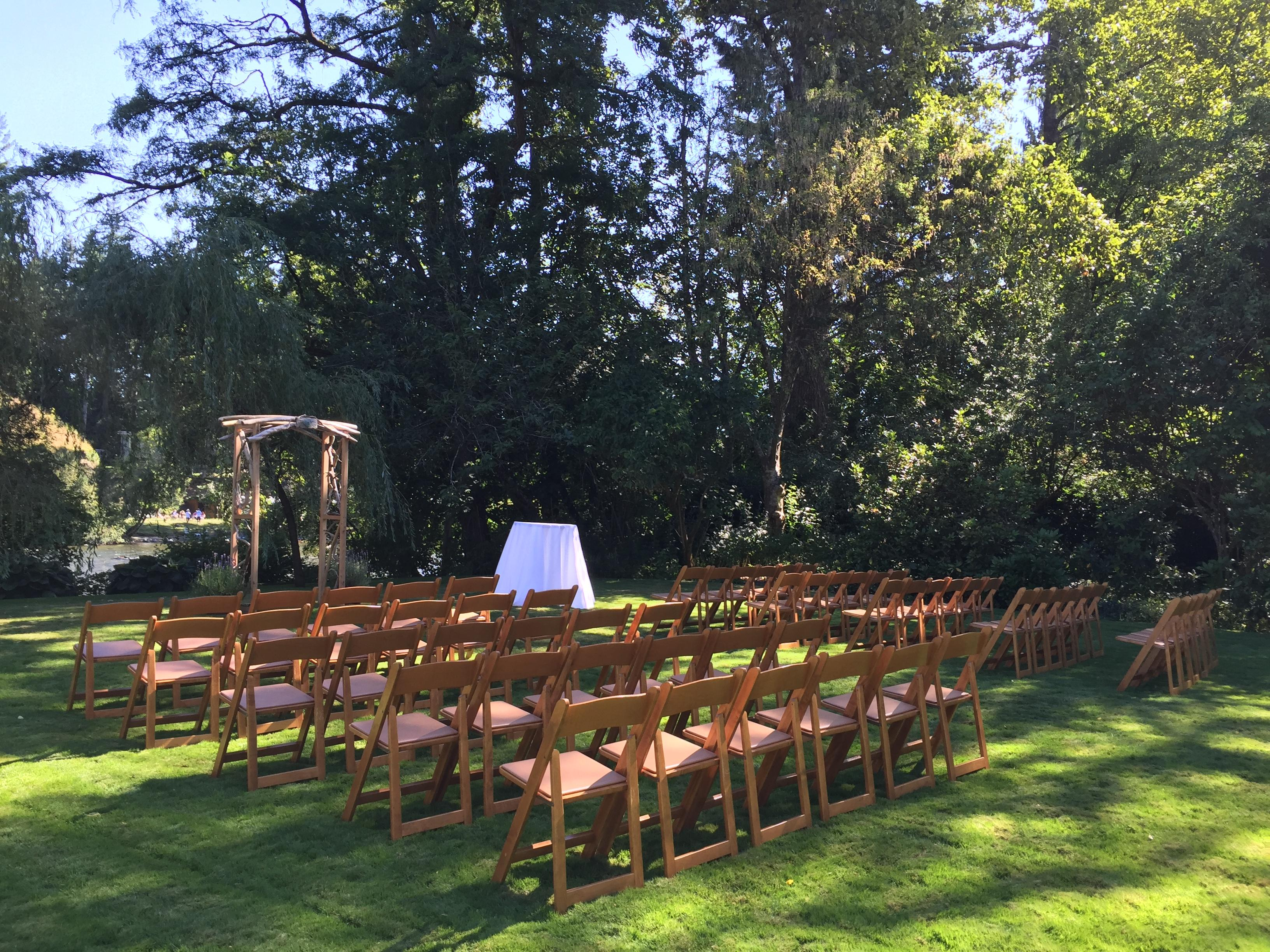 Pecans In A Ceremony Set Up