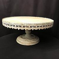 Cake Stand - White - Antique - 22""
