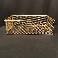 "Basket - Gold Wire - 12.5""l x 8""w x 4""d"