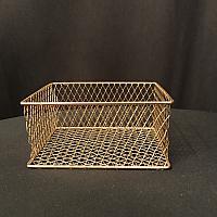 "Basket - Gold Wire - 7""l x 5.5""w x 3.5""d"