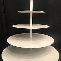"""Cupcake Stand - 22"""" Round - White"""
