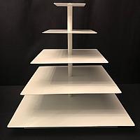 """Cupcake Stand - 22"""" Square - White"""