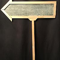 Chalkboard - Arrow - In Ground