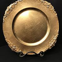 Charger Plate - Gold - Flower Stud
