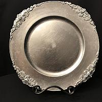 Charger Plate - Silver - Flower Stud