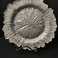 Charger Plate - Silver - Glass - Reef