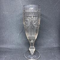 Pressed Glass Flute - Grey