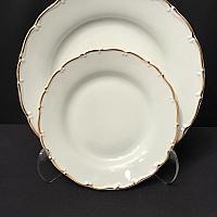 """Gold Rim 10"""" Dinner Plate"""