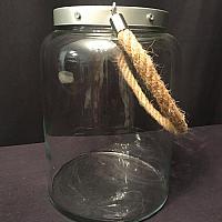 Oversized Vintage Glass Jar w/ Rope