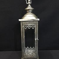 "Lantern - Antique - Silver - 5"" x 18"""