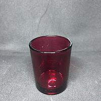 Votive Candle Holder - Round - Red