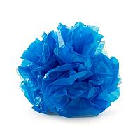 Plastic Pom Poms - Royal Blue