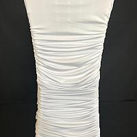 Chair Cover - Spandex - White Ruched