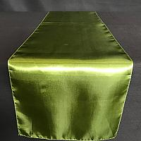 Table Runner - Satin - Moss Green