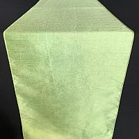 Table Runner - Raw Silk - Apple Green