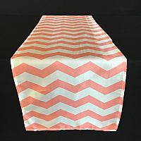 Table Runner - Coral - Chevron Stripe
