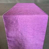 Table Runner - Raw Silk - Purple