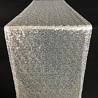 Table Runner - Sequin - Silver