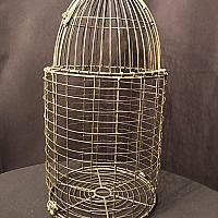 "Birdcage - Rustic Wire - 22"""