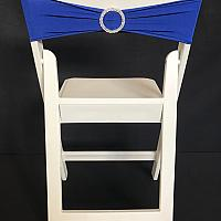 Spandex Chair Band w/ Buckle - Blue