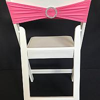 Spandex Chair Band w/ Buckle - Pink