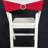 Spandex Chair Band w/ Buckle - Red