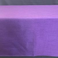 "Table Overlay - Raw Silk - Purple 72"" x 72"""