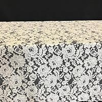 "Table Overlay - Lace - White 72"" x 72"""