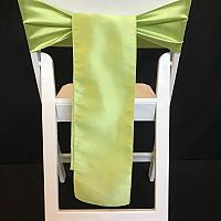 Chair Tie - Raw Silk - Apple Green