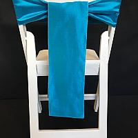 Chair Tie - Raw Silk - Bermuda Blue