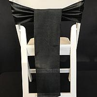 Chair Tie - Raw Silk - Black