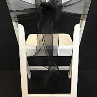 Chair Tie - Organza - Black