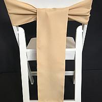 Chair Tie - Satin - Champagne