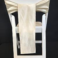 Chair Tie - Raw Silk - Champagne