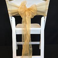 Chair Tie - Organza - Champagne