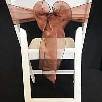 Chair Tie - Organza - Chocolate