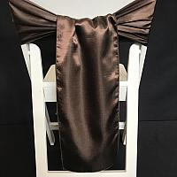 Chair Tie - Satin - Chocolate