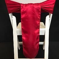 Chair Tie - Silk - Claret Red
