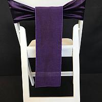 Chair Tie - Raw Silk - Purple