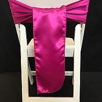 Chair Tie - Silk - Fuchsia