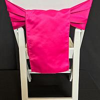 Chair Tie - Satin - Fuschia