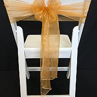 Chair Tie - Organza - Gold