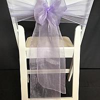 Chair Tie - Organza - Lavender