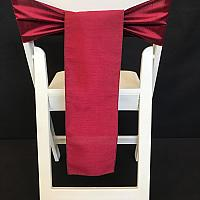 Chair Tie - Raw Silk - Merlot