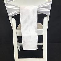 Chair Tie - Raw Silk - White