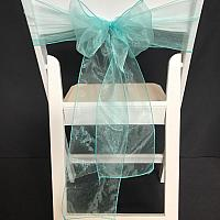 Chair Tie - Organza - Turquoise