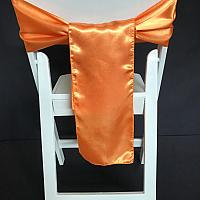 Chair Tie - Silk - Orange