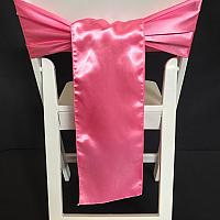 Chair Tie - Silk - Candy Pink