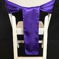 Chair Tie - Satin - Purple