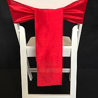 Chair Tie - Raw Silk - Red